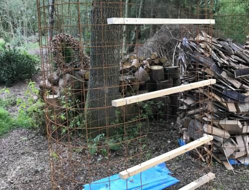 Brennholz lagern – günstiger Feuerholz Unterstand Bauanleitung